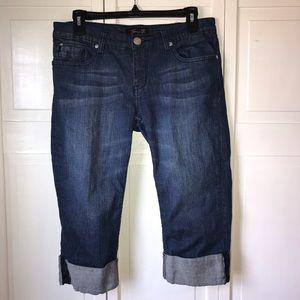 Seven7 Capri Style Dark Wash Jeans, size 8